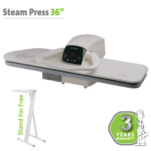 "STEAM PRESS 36"" WHITE"